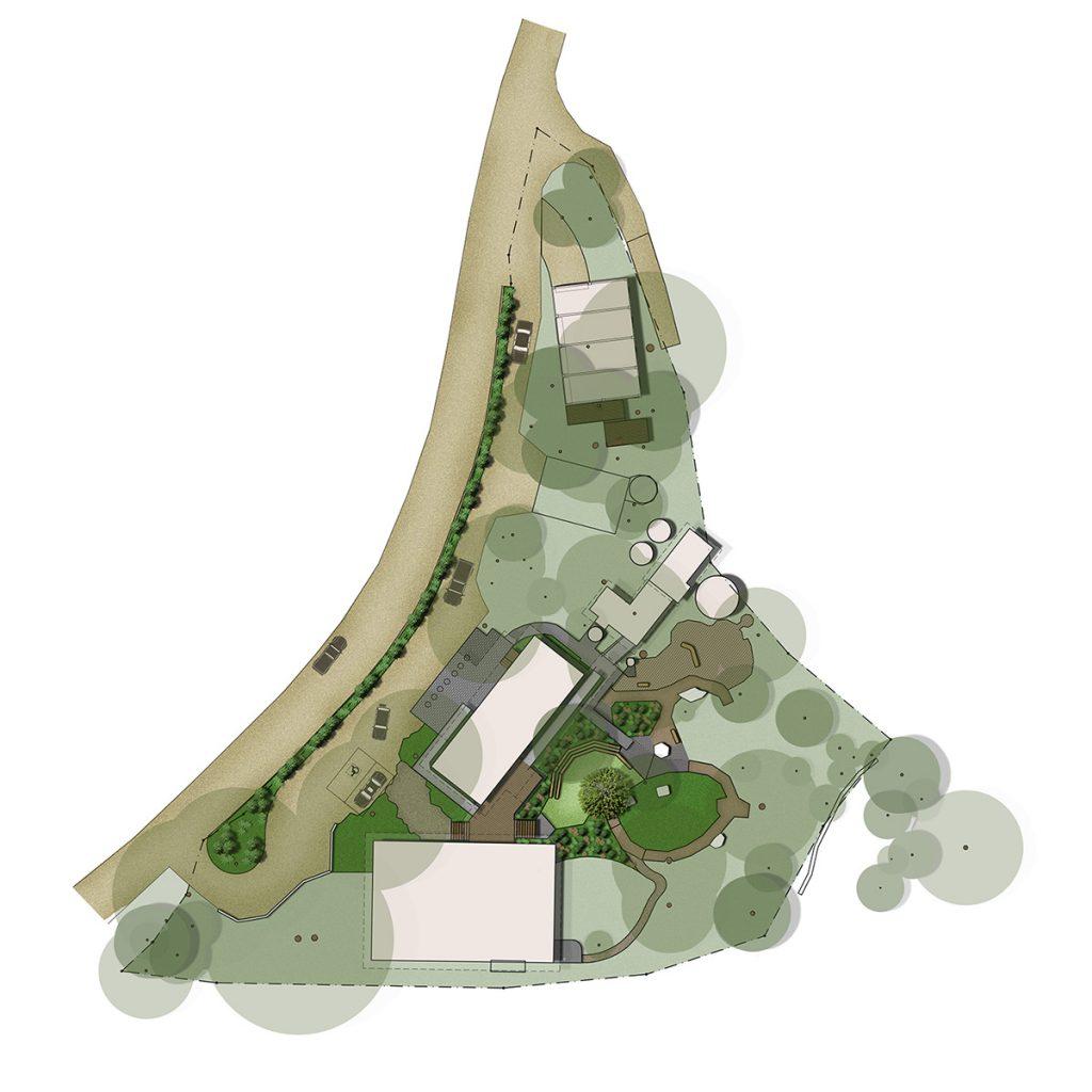 Colour landscape concept plan of Bunyaville Environmental Education Centre