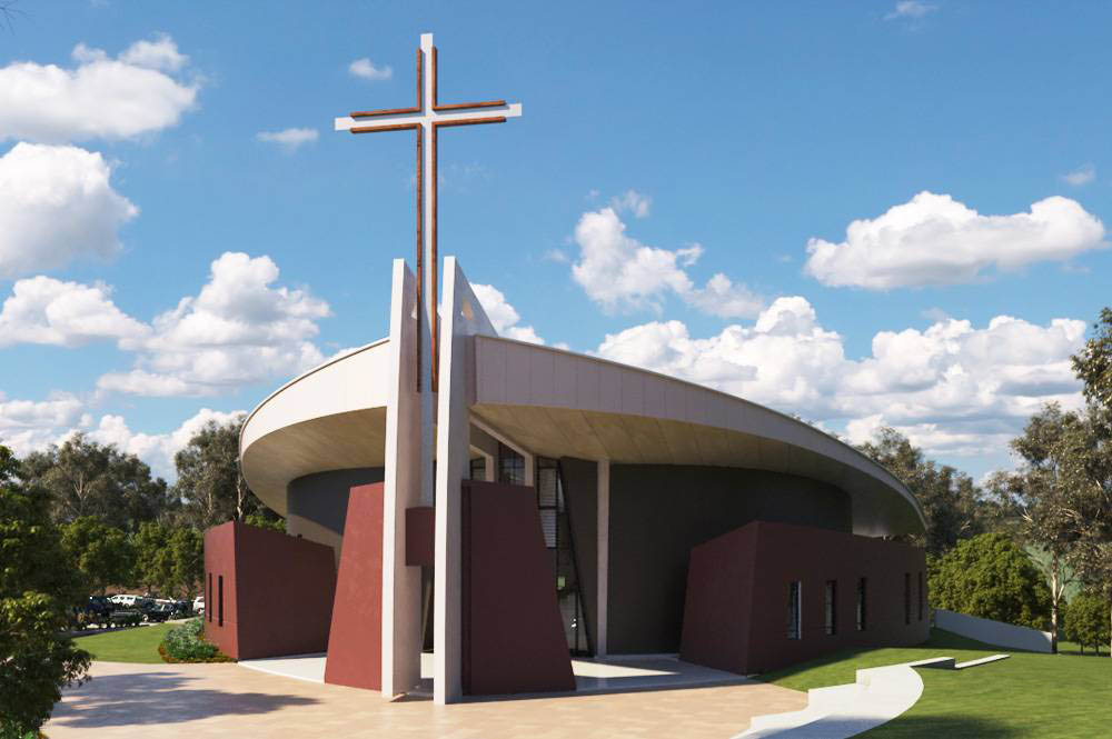Architectural render of Mary, Mother of Mercy Church