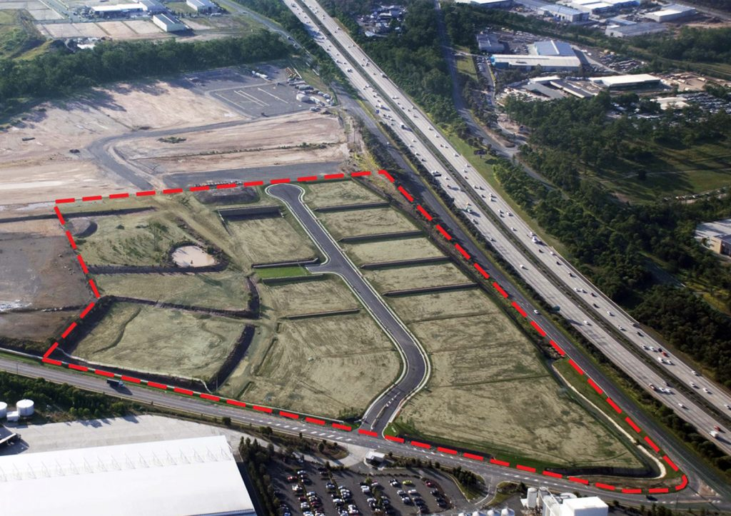 Aerial photo of m1Yatala Enterprise Park
