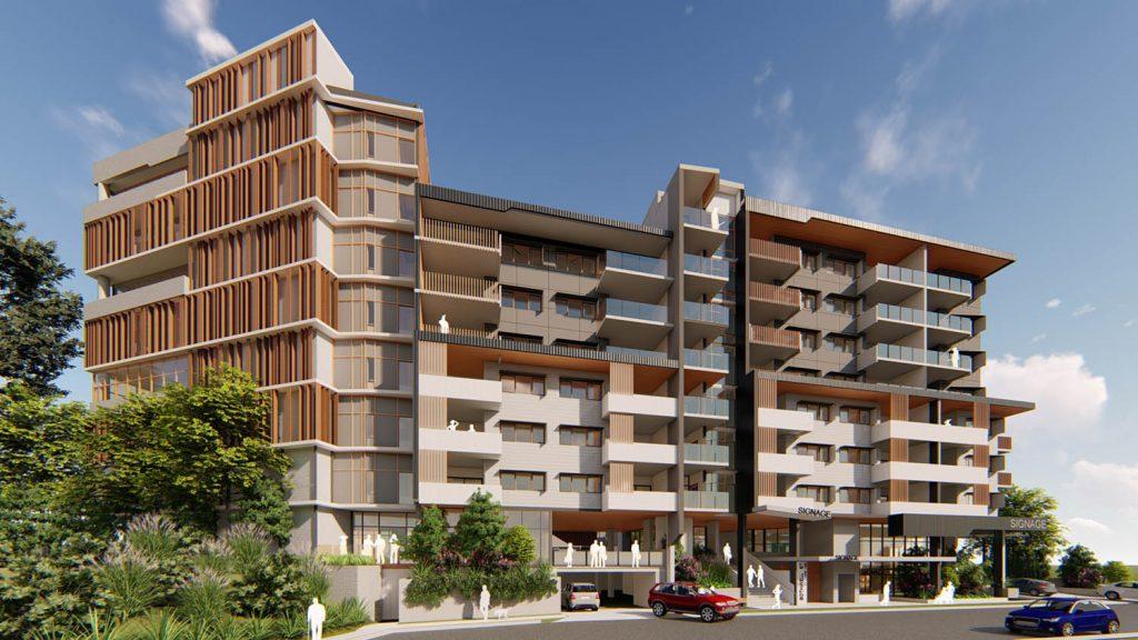 Architectural render of Mount Gravatt Mixed Use Development