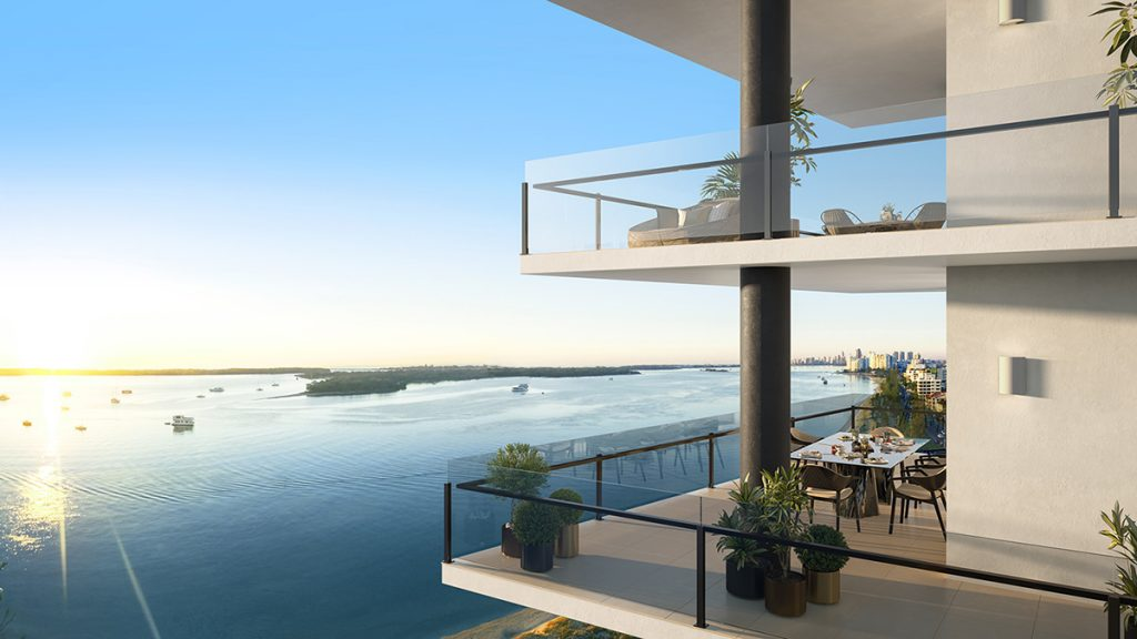 Colour rendered landscape concept plan of Oro Apartments